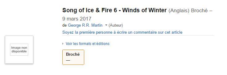 La data di uscita di Winds of Winter