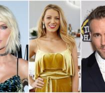 Primo piano di Blake Lively, Ryan Reynolds e Taylor Swift