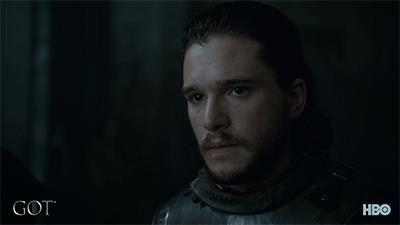 Jon e Daenerys nella stagione 7 di GoT