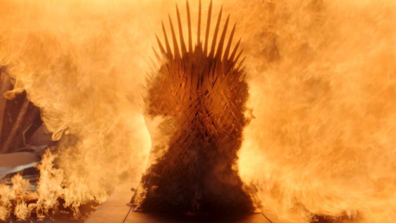 Drogon distrugge il trono di spade in Game of Thrones 8x06