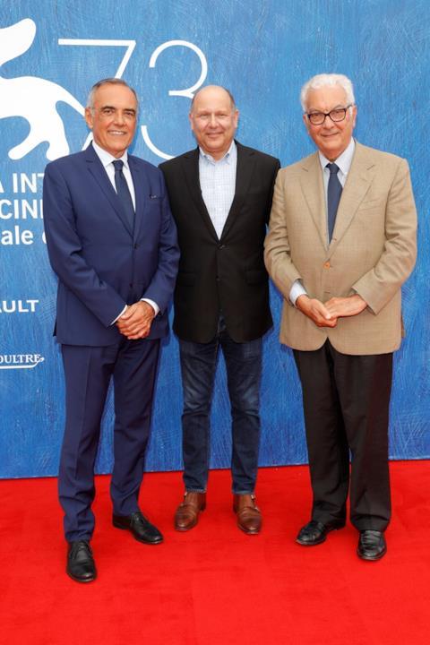 Chris Meledandri, Alberto Barbera e Paolo Baratta a Venezia 73.