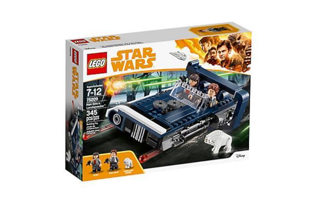 Dettagli sul box del set di LEGO Il Landspeeder di Han Solo
