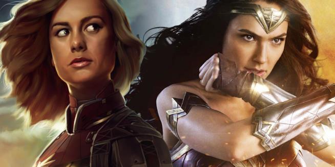 Captain Marvel e Wonder Woman a confronto