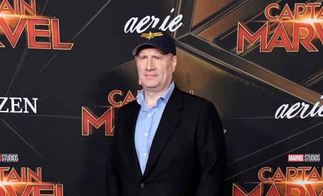 Kevin Feige alla première di Captain Marvel