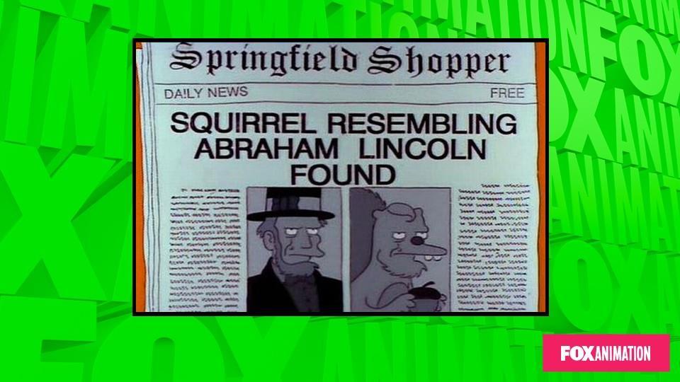 Scoperto scoiattolo che assomiglia ad Abramo Lincoln.