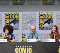 Nathalie Emmanuel, Liam Cunningham e Sophie Turner al Comic-Con 2017