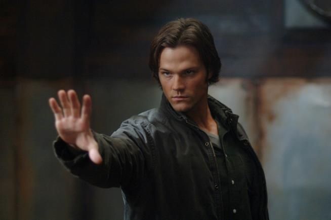 Jared Padalecki in una scena di Supernatural