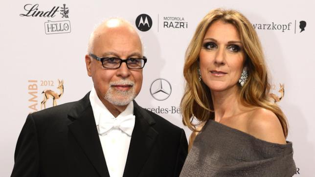 Un'immagine felice di Céline Dion e René Angélil