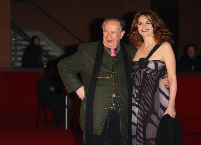 Il regista con la compagna Caterina