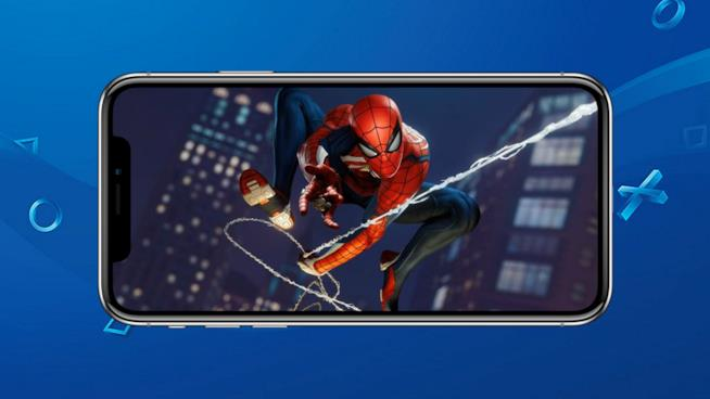Marvel's Spider-Man per PS4 in esecuzione su iPhone X