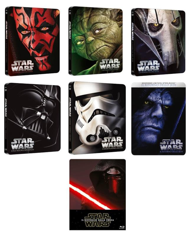 La saga di Star Wars in steelbook