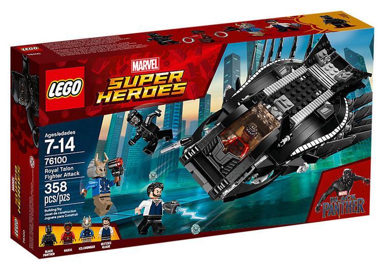 Dettagli del box L'attacco del Royal Talon Fighter di LEGO