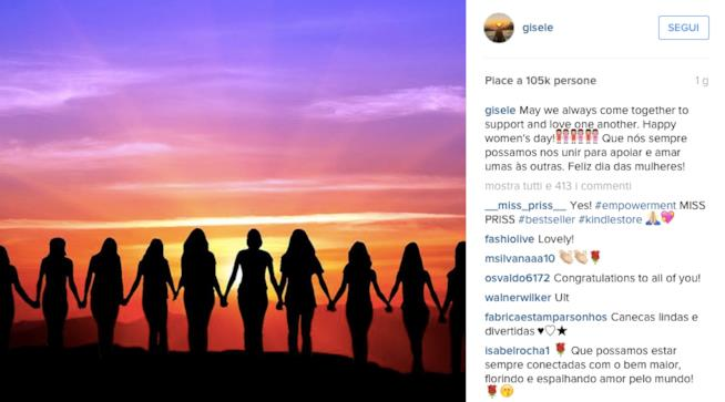 Il post pubblicato da Gisele Bundchen su Instagram