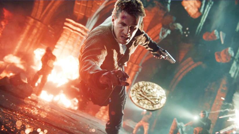 Nathan Drake in una keyart ufficiale di Uncharted 4