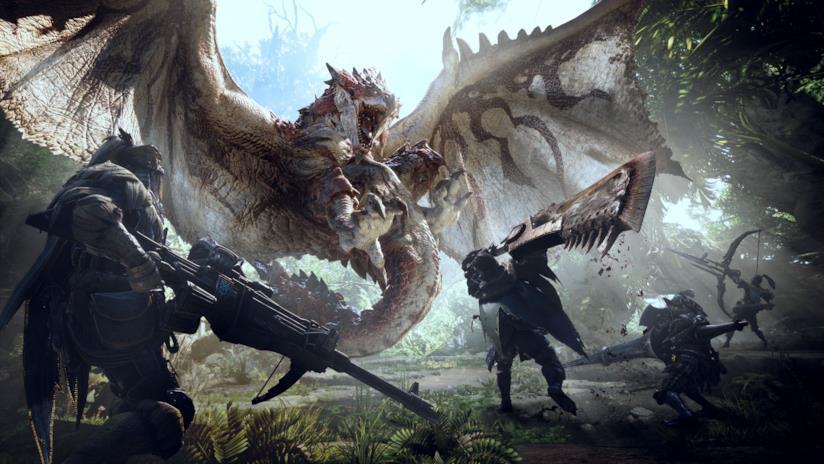 Cacciatori in combattimento da Monster Hunter World