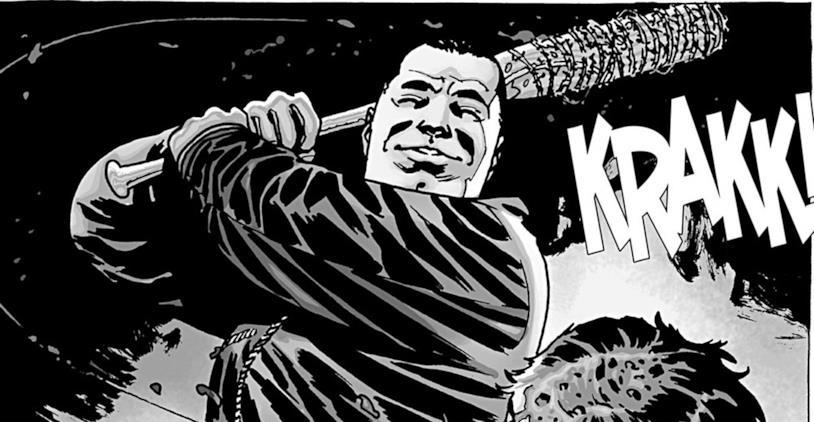 Negan e Lucile in The Walking Dead, il fumetto