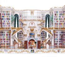 La riproduzione della biblioteca de La Bella e la Bestia costruita con oltre 2,5mila mattoncini LEGO