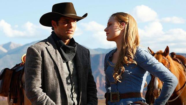 Westworld, scena con Evan Rachel Wood