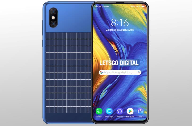 Il concept dello smartphone di Xiaomi con pannello solare