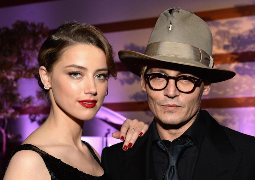 Johnny Depp e Amber Heard in primo piano