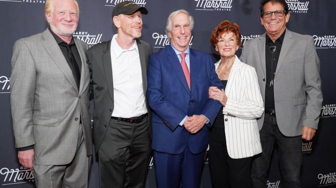 I protagonisti di Happy Days a un evento per Garry Marshall