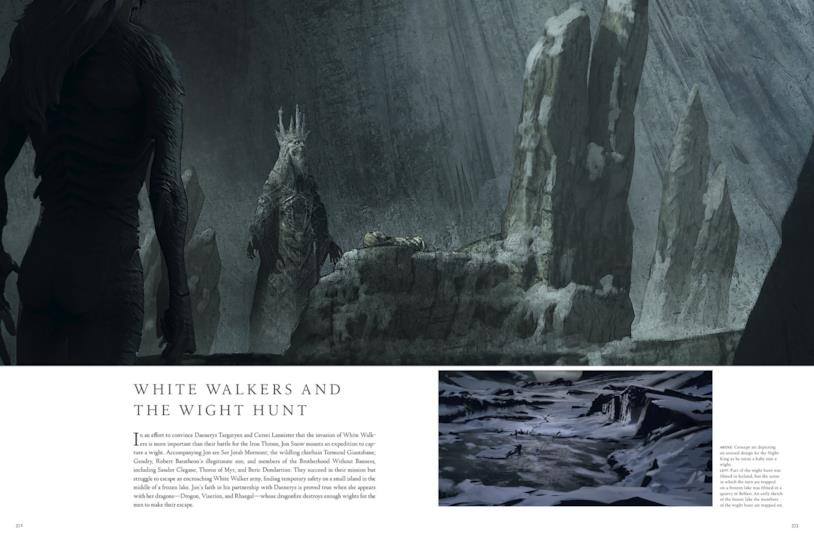 GoT: il primo aspetto del Re della Notte in The Art of Game of Thrones