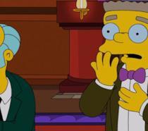 Waylon Smithers e Monty Burns dei Simpson