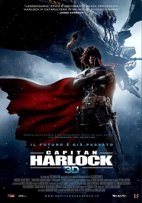 Capitan Harlock, la locandina italiana del film