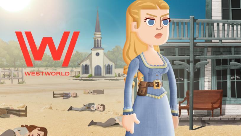 Dolores rappresentata nel videogioco di Westworld