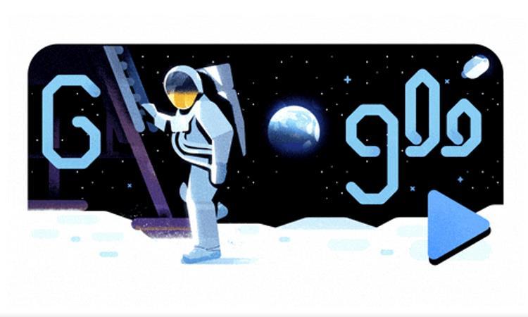 Il google doodle dello sbarco sulla luna