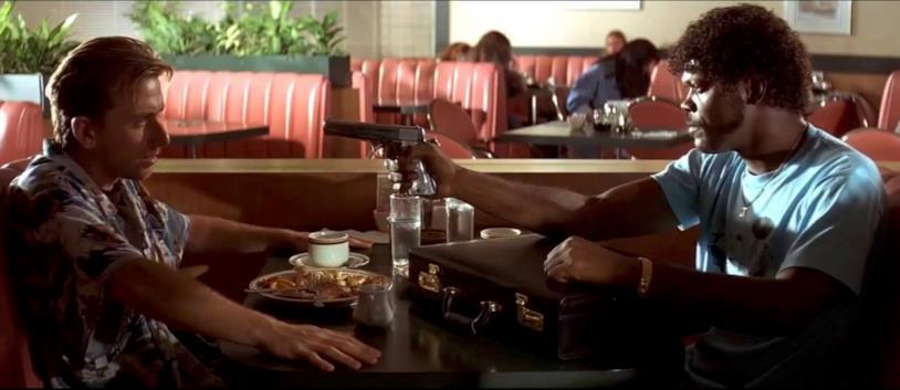 Una scena di Pulp Fiction