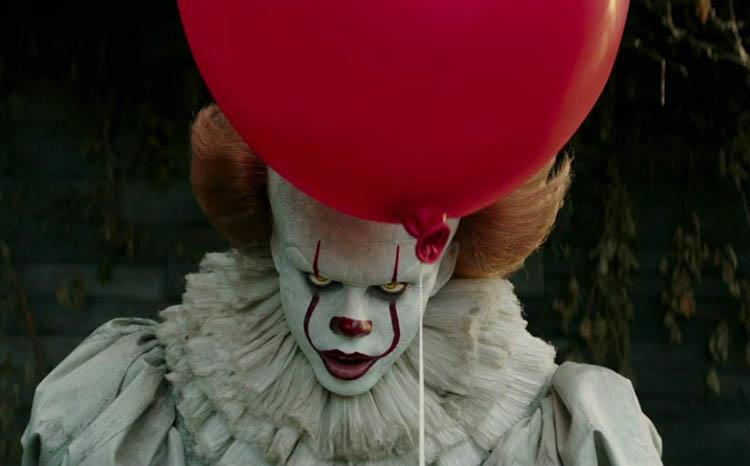 Pennywise nel remake di IT (2017)