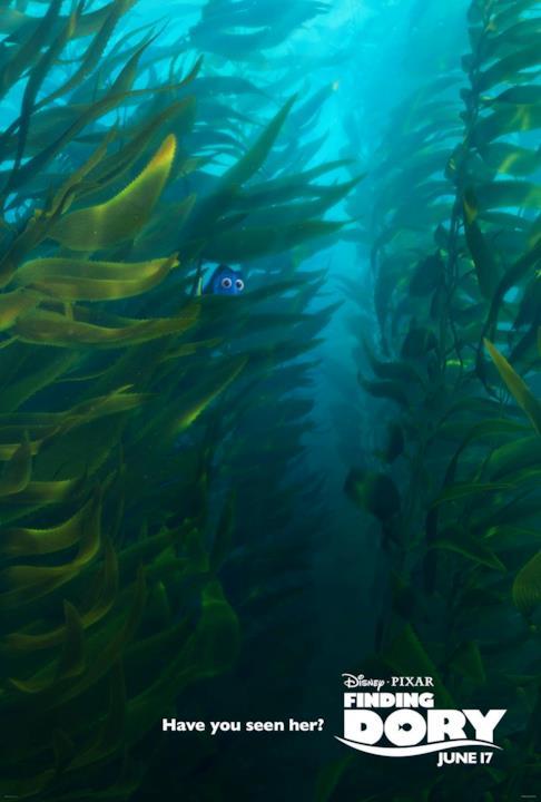Dory tra le alghe nel nuovo poster di Alla Ricerca di Dory