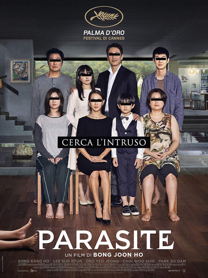 Copertina del cofanetto Blu-ray di Parasite