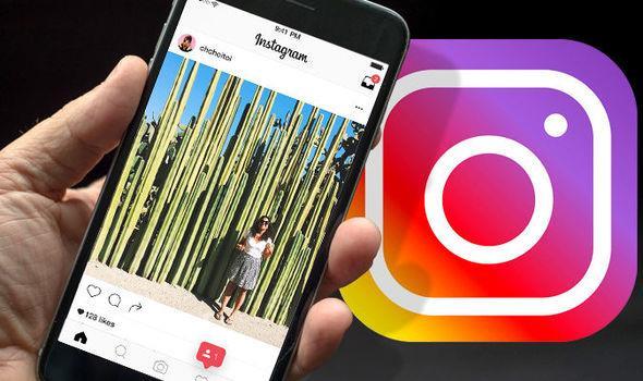 Primo piano di uno smartphone e del logo di Instagram