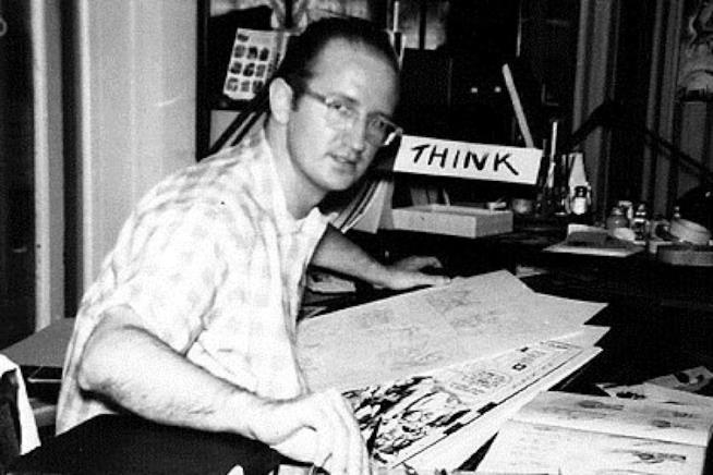 Steve Ditko alla scrivania