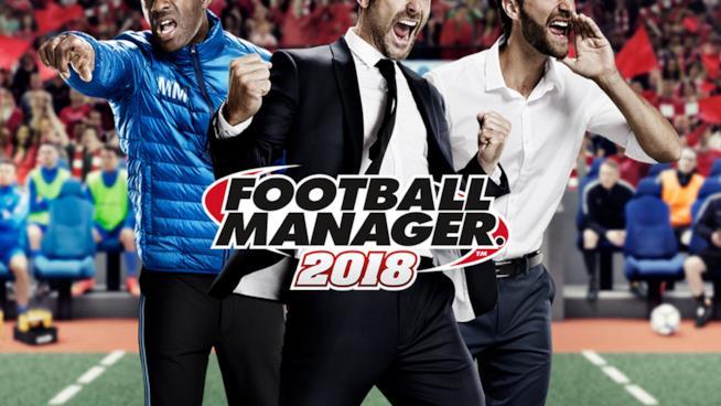 La copertina ufficiale di Football Manager 2018