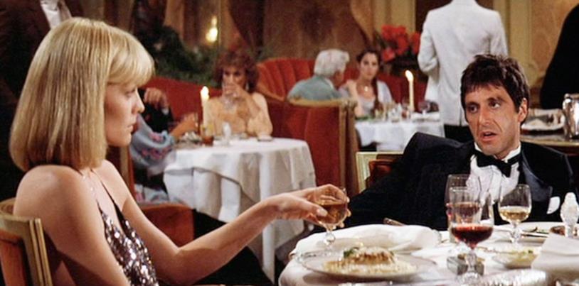 Una scena di Scarface di Brian De Palma