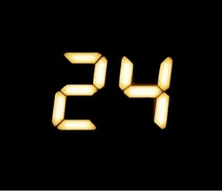 Il logo della serie TV 24