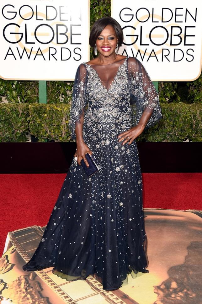 Viola Davis alla cerimonia di premiazione dei Golden Globe 2016
