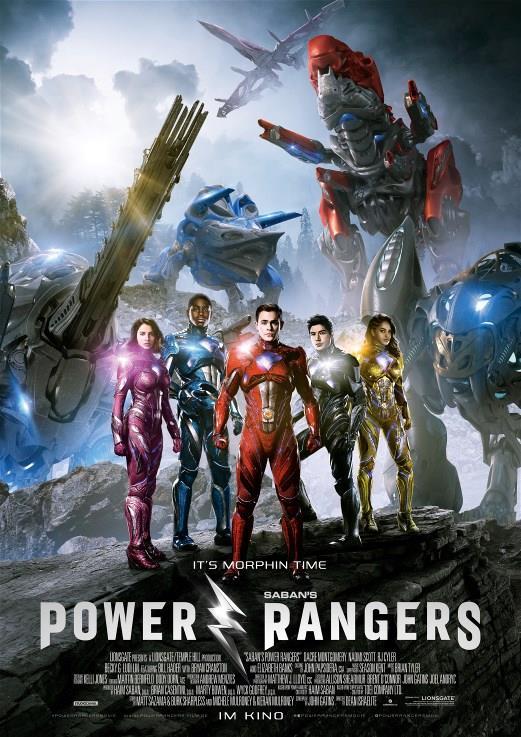 Poster internazionale del film Power Rangers