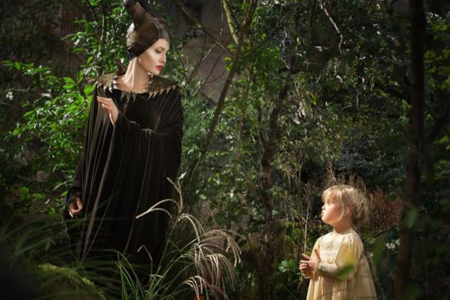 Angelina Jolie in una scena del primo Maleficent