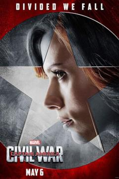 Vedova Nera in un poster a lei dedicato