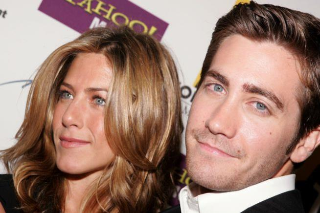 Primo piano di Jennifer Aniston e Jake Gyllenhaal