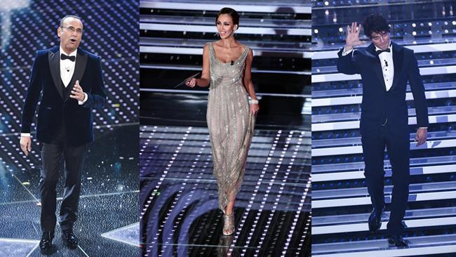 Gli abiti dei presentatori di Sanremo 2016