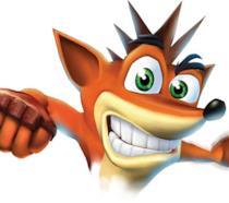 Un primo piano di Crash Bandicoot, storica mascotte PlayStation