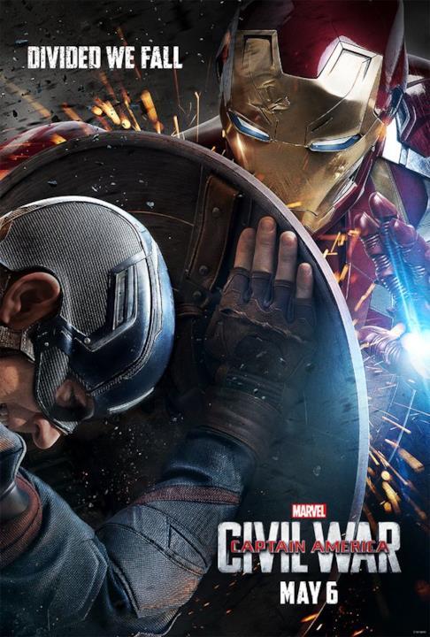 Iron Man nella locandina di Captain America: Civil War