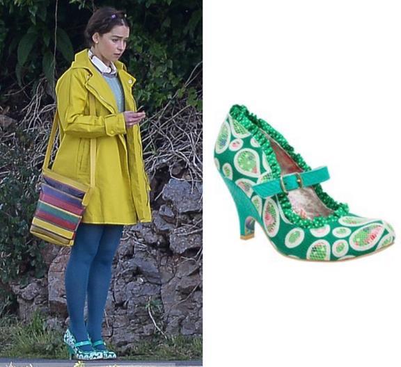 Le scarpe di Irregular Choice indossate da Emilia Clarke in Io Prima di Te
