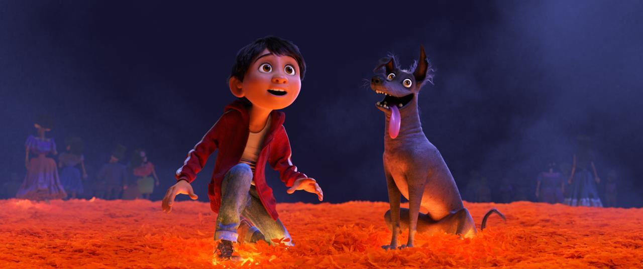 Miguel e il cane Dante