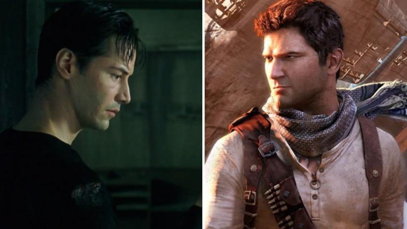 Neo dal film di Matrix e Nathan Drake dal videogioco di Uncharted